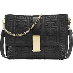 #GREEK nappa leather shoulder bag (9.135 BRL) ❤ liked on Polyvore featuring bags, handbags, shoulder bags, chain purse, chain shoulder bag and chain handbags