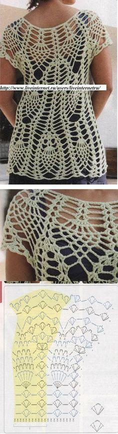 New Crochet Dress Pattern Filet Ideas Débardeurs Au Crochet, Mode Crochet, Crochet Shirt, Crochet Woman, Filet Crochet, Crochet Bikini, Crochet Leaf Patterns, Crochet Motifs, Crochet Stitches