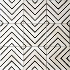 A maze of black and white tiles. Glam Tiles by Jeanine Hays on Houzz. contemporary floor tiles by Marrakech Design