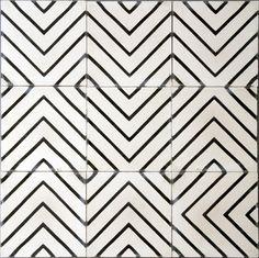 Goose-eye Tile, Milk/Kohl contemporary-wall-and-floor-tiles