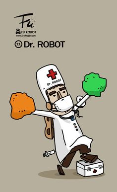 Dr. Robot Dr Robot, Robots, Bart Simpson, Illustration, Fictional Characters, Robotics, Robot, Illustrations