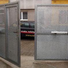 Dvoukřídlá brána s brankou - realizace Brno Lockers, Locker Storage, Mesh, Home Appliances, Cabinet, Furniture, Home Decor, Pictures, House Appliances