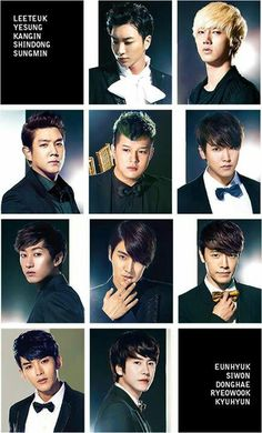 Super Junior from youngest to oldest? :) you forgot Heechul people!