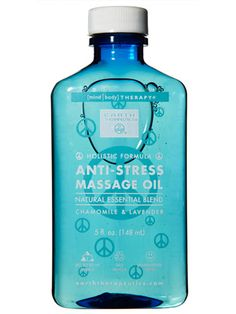 Work this lavender- and chamomile-scented oil into muscle kinks to relax them away. Better yet, have someone else do it for you. Anti-Stress Massage Oil, $7.99; EarthTherapeutics.com