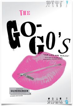 "Go Go's ""Our Lips are Sealed"" venue poster"