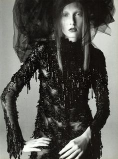 Vogue Italia September 1997 Couture Pt.1 Photo Steven Miesel Editor Joe McKenna Model Maggie Rizer Hair Garren Makeup Pat McGrath