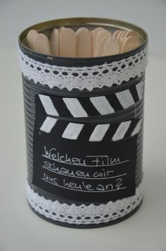 Filmauswahl-Dose aus alter Konserve / Choose-your-film-container made from old tin can / Upcycling