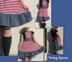 Tutorial: Retro ruffled swing apron