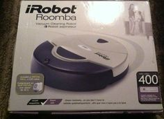 NEW iROBOT Roomba 400 Vacuum Cleaning Robot Includes Virtual Wall SEALED White #iRobot