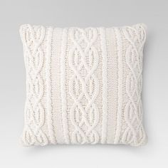 Cream Cable Knit Oversized Throw Pillow - Threshold™ : Target