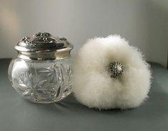 SALE Mothers Day Gift Antique Vanity Jar Set  by VintageOnHudson, $325.00
