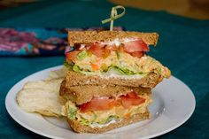<b>Sandwiches: The most beautiful of all foods.</b> And these vegan ones are pretty darn sharp too.