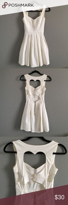 Open back white dress Bought from an Australian online boutique. Tag says 6 but I ordered a small and it fits as a small. Only worn once-for high school graduation Dresses