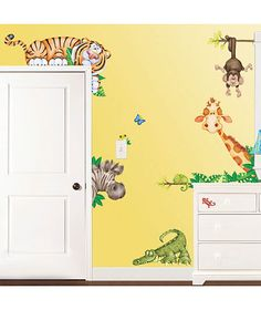 Room FX Jumbo Wall Appliqués as part of your child's room decor! You can even arrange them so they look around the corner and peek out from behind furniture. Peel-and-stick appliqués can be repositioned and reused. (also available in Woods, Pond scenes)