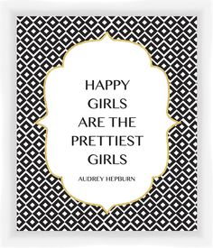 Quote Giclee Print by Audrey Hepburn Framed Textual Art