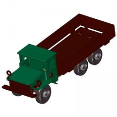 Sheet-metal dump truck model plan
