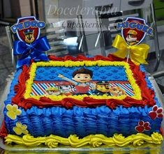 Créditos: @doceterapiacupcakeria Ideias para Festa Infantil Patrulha Canina Paw Patrol Birthday Decorations, Paw Patrol Birthday Theme, Diy Birthday Decorations, Paw Patrol Cake, Paw Patrol Party, 3rd Birthday Parties, Boy Birthday, Cakes For Boys, Giza