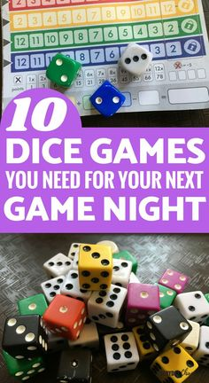 10 Fun Dice Games for Kids and Families – Everyday Chaos and Calm 10 Fun Dice Games for Kids and Families Kids and Parenting: 10 great dice games for family night or indoor activities Family Fun Games, Board Games For Kids, Fun Games For Kids, Games To Play, Family Board Games, Dice Games, Activity Games, Indoor Activities, Activities For Kids