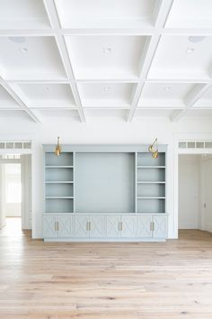 Cabinetry paint color is the same as the kitchen island;- Cabinetry paint color is the same as the kitchen island; Sherwin Williams Smoky … Cabinetry paint color is the same as the kitchen island; Living Room Built Ins, Home Living Room, Living Room Decor, Dining Room, Living Room Ceiling Ideas, Bedroom Built Ins, Coastal Living Rooms, Living Spaces, Cabinet Paint Colors