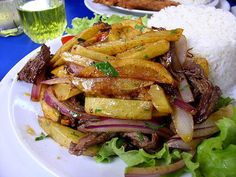 Peruvian food is starting to explode in popularity like this Lomo Saltado