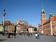 Warsaw Travel Guide: Thanks to the hard work of young architects Warsaw's beautiful Old town was carefully restored to its pre war state. Warsaw Poland, Old Town, Travel Guide, Restoration, Castle, Street View, Adventure, Places, Beautiful