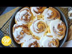 Treat yourself to a delicious breakfast with this easy recipe for homemade cinnamon rolls. This yeasted dough makes 8 amazing cinnamon rolls. Cinnamon Rolls From Scratch, Cinnamon Roll Icing, Best Cinnamon Rolls, Dessert For Two, Desserts For A Crowd, Dessert Recipes, Chocolate Cake From Scratch, Make Chocolate Chip Cookies, Copycat Cinnabon Recipe
