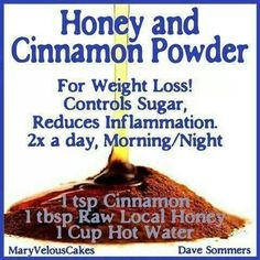 The Cinnamon Honey Weight Loss Drink: Drink this on an empty stomach once in the morning before breakfast and once before bed. It has been shown to aid in weight loss. Looks like this works for a lot of people! Instructions say to add the honey af Loose Weight, Reduce Weight, How To Lose Weight Fast, Losing Weight, Healthy Drinks, Get Healthy, Healthy Tips, Healthy Recipes, Weight Loss Drinks