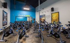 Thanks to its ability to dampen sound, rubber flooring is the perfect choice for any space that has treadmills, rowers, or exercise bikes!  #fitnesscenter #spinclass #rubberflooring #rubbertiles #gymflooring