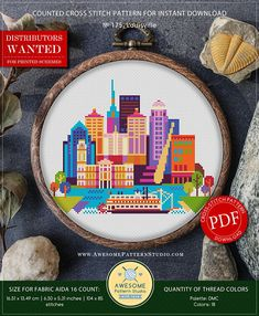 This is modern cross-stitch pattern of Lima for instant download. A cool tip to decorate your living room. You will get 5-pages PDF file, which includes: - main picture for your reference; - colorful scheme for cross-stitch; - list of DMC thread colors (instruction and key