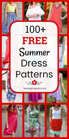 Free Summer Dress Patterns for women. Over 100 simple and easy diy projects & tutorials. Sew long maxi dresses, casual shift and strapless designs, sundresses, wrap dresses, and more! projects for women Free Summer Dress Patterns for Women Sewing Projects For Beginners, Easy Diy Projects, Sewing Tutorials, Sewing Hacks, Sewing Tips, Summer Dress Patterns, Summer Dresses, Summer Maxi, Casual Summer