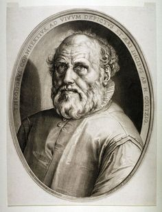 Hendrik Goltzius, 1558-1617, Dutch, Dirck Volckertsz. Coornhertca. c.1591.  Engraving, 47.6 x 34.9 cm (image).  Fine Arts Museums of San Francisco.  Northern Mannerism.