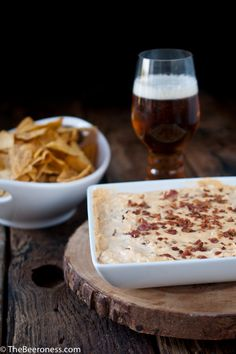 Beer and Bacon Dip- Super Bowl snack #beer #bacon #dip