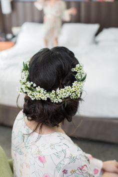 Romantic Flower Crown - Wax Flowers