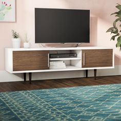 Do you already have ideas for your weekend project? How about replacing your old TV stand with a new one? Check out these 11 very different, but incredible DIY TV stand project ideas that step you through building a terrific media console. Living Room Tv, Living Room Modern, Living Room Furniture, Kitchen Furniture, Tv Stand Ideas For Living Room, Apartment Furniture, Rack Tv, Wooden Tv Stands, Tv Stand Designs