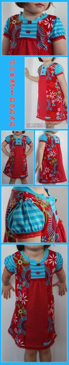 Wir durften wieder bei Christiane  probenähen - und zwar ein entzückendes Kleidchen namens JOSEFINCHEN .   JOSEFINCHEN  ist -wie ihre Vorgä...