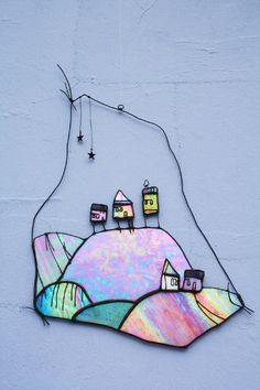 Wall Art - Glass Art ~ wish I could be as creative as the people that think of this!