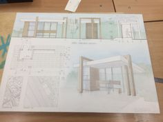 Angelika Banias on Behance Architecture Concept Drawings, Architecture Panel, Chinese Architecture, Amazing Architecture, Architecture Design, Project Presentation, Presentation Design, Bus Stop Design, Bus Shelters