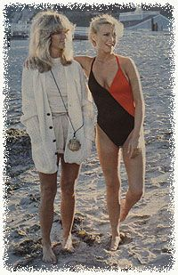 Farrah Fawcett (Jill) and Cheryl Ladd (Kris)