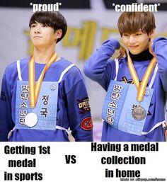 Jungkook's face reveals his feelings:D | allkpop Meme Center