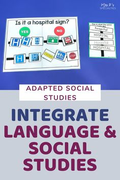 Use this adapted social studies community sign unit to teach life skills, community based skills and language. It's designed for students who need language practice embedded into instruction, who are visual learners and need hands on tasks to learn. The set includes an adapted book, language prompts, hands on sorts, worksheets & materials for students to demonstrate comprehension. Easily plan out functional & relevant lesson plans, social studies & centers. Click for more info. Teaching Life Skills, Teaching Special Education, Teaching Social Studies, Writing Lesson Plans, Writing Lessons, Lesson Planning, Autism Classroom, Classroom Resources, Classroom Ideas