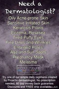 Drs. Rodan and Fields created this premium dermatological skincare line to bring dermatology to the masses... now you can have great skincare in your own home backed by a team of professionals and nurses to make sure you get the results you are looking for! What's your skin concern?! I know that I can help!!  https://Kcandela.my.randf.com