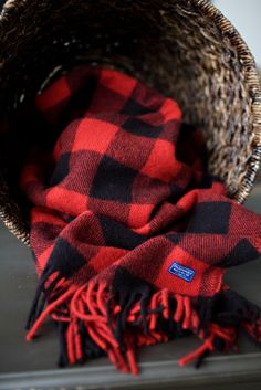 View products to learn the 150 year old history of Faribault Woolen Mill. Black Plaid, Tartan Plaid, Plaid Scarf, Warm Outfits, Buffalo Plaid, Warm And Cozy, Gingham, Lumber Jack, Baby Boy