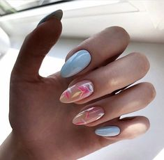53 Perfect Natural Short Almond Nails Design For Fall Nails Page 18 of 54 Fa Classy Almond Nails, Summer Nails Almond, Short Almond Nails, Almond Nail Art, Almond Nails Designs Summer, Nail Art Designs, Short Nail Designs, Colorful Nail Designs, Cute Nails