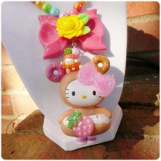 Hello Kitty Necklace donutella tokidoki fruit by TragicStitches, $50.00