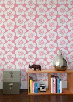 Pop Floral Wallpaper in Peony design by Aimee Wilder