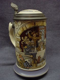 Mouse over image to zoom Have one to sell? Sell it yourself RARE & MINT ANTIQUE METTLACH CARNIVAL STEIN #2778 DESIGNED BY HEINRICH SCHLITT