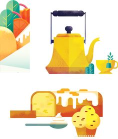 editorial project, food design, city guide