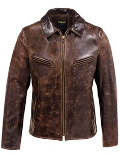 Featuring a trim fit and moto style jacket has two front zippered pockets and reinforced stitching throughout.It is timeless looking jacket for modern-day riders. Brown Leather Jacket Men, Mens Leather Coats, Best Leather Jackets, Leather Jacket Styles, Types Of Jackets, Men's Coats And Jackets, Cool Jackets, Jackets For Women, Jacket Types