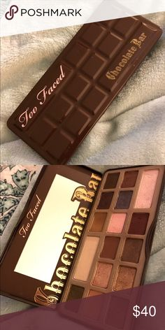 TOO FACED EXCELLENT CONDITION CHOCOLATE BAR USED GENTLY EXCELLENT CONDITION!! NO TRADES!! Too Faced Makeup Eyeshadow