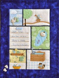 Baby Boy Button Quilt Pattern by Mouse Blankets at KayeWood.com. Quick assembly with raw edge applique, envelope construction, includes buttons. http://www.kayewood.com/item/Baby_Boy_Button_Quilt/2922 $16.00